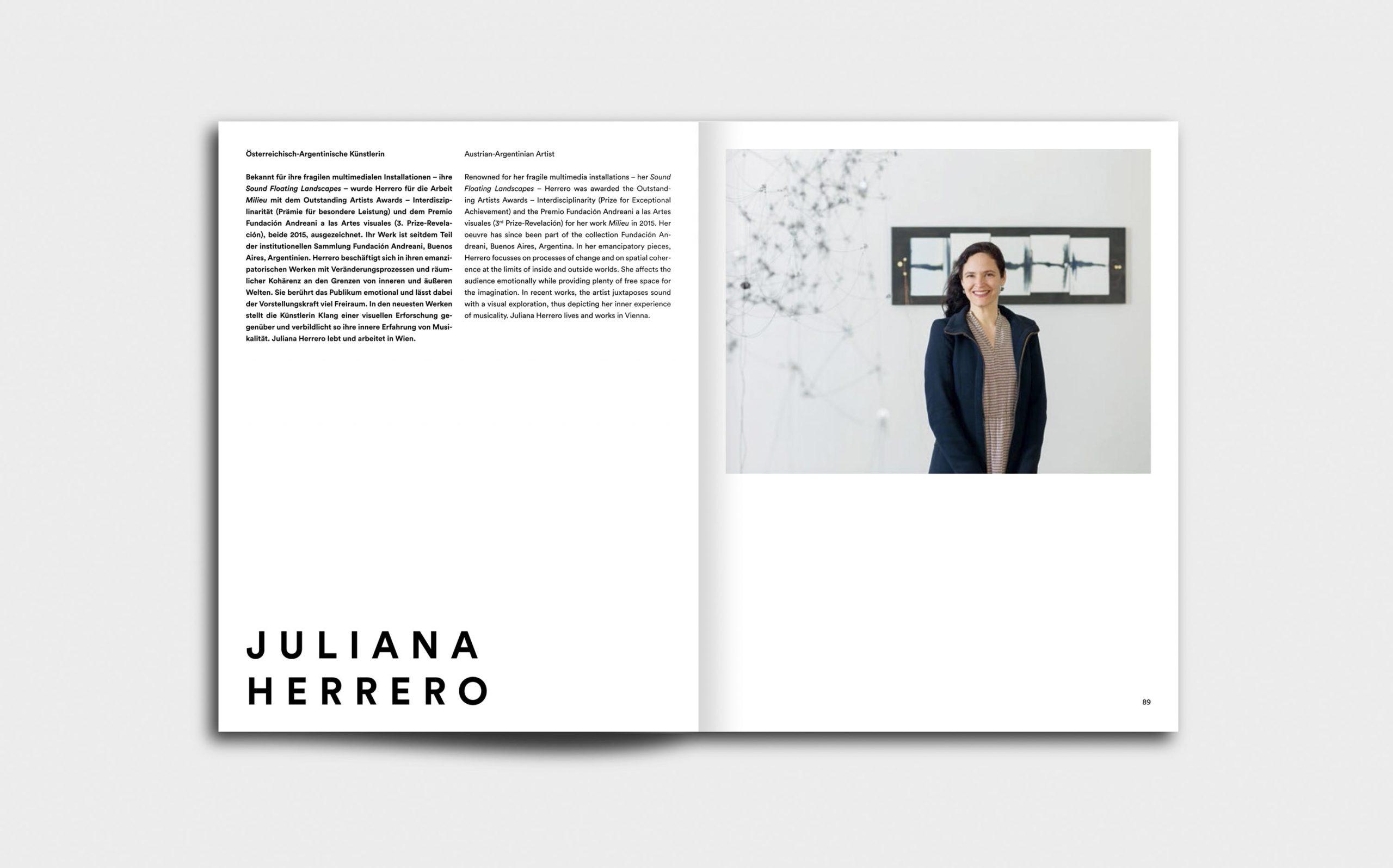 Juliana Herrero – REM 1:1 | Künstlerportrait und CV | Keywords: Editorial Design, Artist Book, Künstlerbuch, Buchgestaltung, Grafikdesign, Design, Typografie
