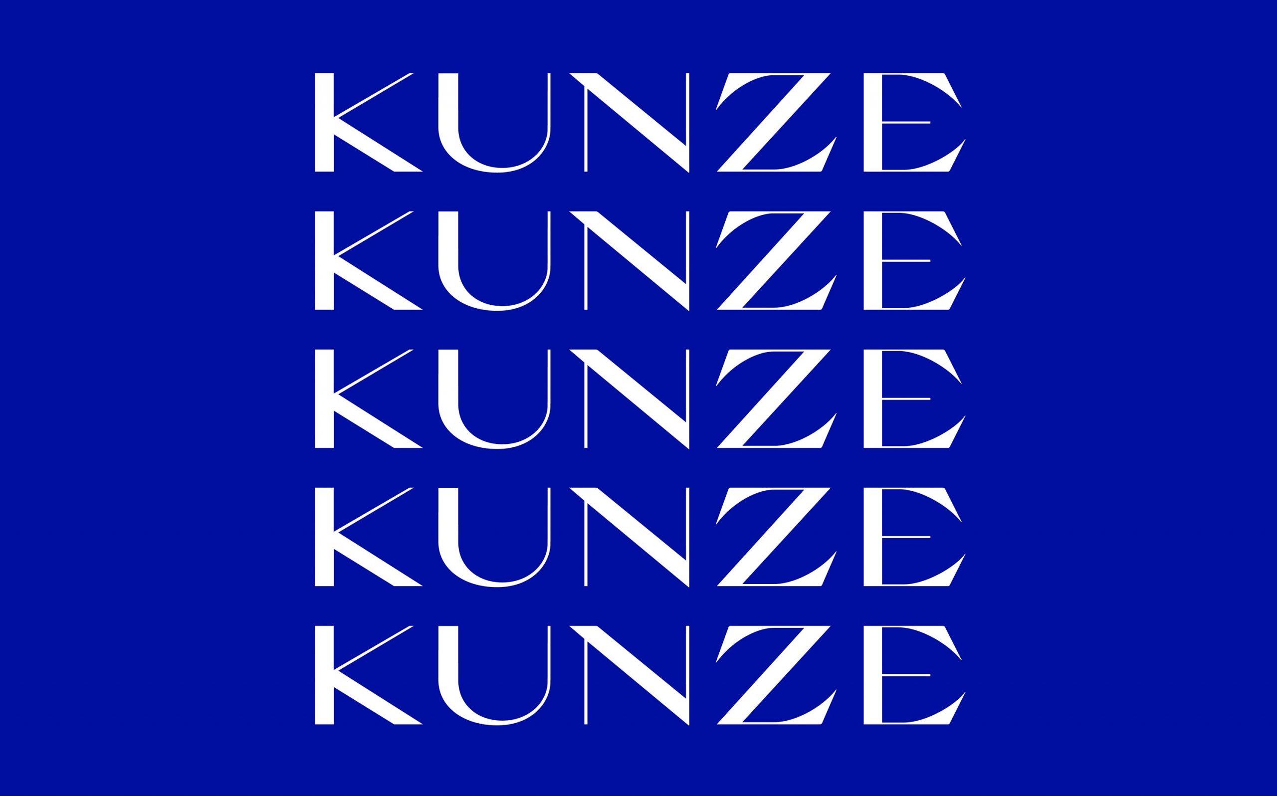 Corporate Design für Kunze Rechtsanwälte, München | Wortmarke | Keywords: Corporate Design, Branding, Contemporary Design, Blau, Blue, Typografie, Typography, Graphic Design, Grafikdesign, Abstrakte Kunst